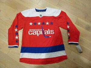 NWT Adidas Washington Capitals Authentic Red Alternate Jersey (50 or 52 or 54)
