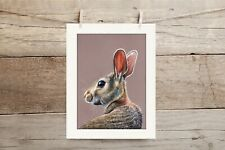 More details for hare giclee print with mount by sarah featherstone, wildlife, wild art gallery