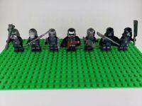 Custom Lego Star Wars Minifigures Knights of Ren + Kylo Ren Lot of 7 + Blasters