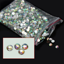 New 1000Pcs 4mm Flatback Crystal AB 14 Facets Resin Round Rhinestone Bea PIP