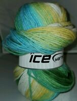 SKEIN/BALL OF MAGIC LIGHT BY ICE YARNS - COLOR #22028 MULTI-COLOR