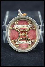 † 18TH SAINT FRANCIS of ASSISI FRIARS MINOR RELIQUARY 1 RELIC WAX SEALED ITALY †