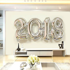 2018 Number Foil Balloon Silver Happy New Year Room Party Decoration