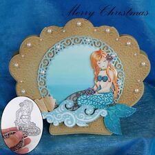 Mermaid Decor Metal Cutting Dies Embossing Stencil Scrapbooking Paper Card Album