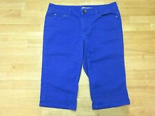 DKNY  Blue Cropped Jeans 12 Cotton Blend, Medium, Mid-Rise