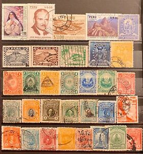 PERU - DIFFERENT TOPICS - LOT OF 32 USED STAMPS