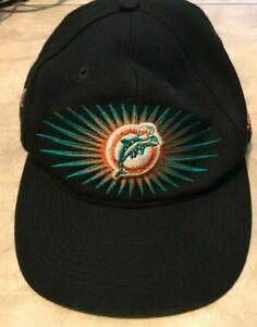 Vintage Miami Dolphins NFL Super Bowl Champions VII 1973 VIII 1974 Hat Cap Black