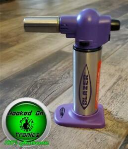 Blazer Big Buddy Butane Refillable Turbo Torch (Purple) Professional & Home  NEW