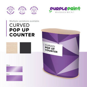 Curved Pop Up Counter - Pop up Display Table - Exhibition Show Stand - inc. bags