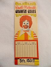 McDonalds 1981 Colorful Metric & Inches Growth Chart