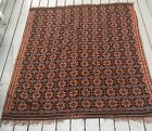 Tapestry rug vintage brown blue design estate wall decor fabric material