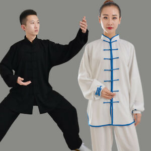 New Unisex Kung Fu Tai Chi Cotton Silk Uniform Martial Arts Wushu Wing Chun Sets