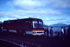 Vintage Kodak Kodachrome Negative Slide Image - Holiday Coach, People Near Lake