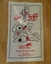 New Printed Tea Towel Dogs The Big Sniff Cartoon Cotton