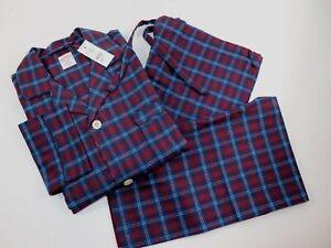 NWT $98 BROOKS BROTHERS Size S Mens L/S Multicolor Plaid Flannel Pajama Pant Set