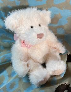 Russ Berrie Soft Toy. Plush Teddy Bear - 'Sabrina' - Matching Bow VGC