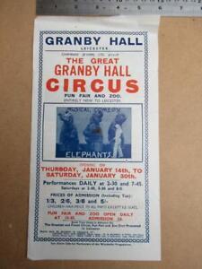 Granby Hall Leicester Circus single sheet Handbill  more image down listing