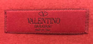 VALENTINO - large unused large [38cm x28cm] red cotton storage bag - only £15.99