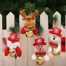 4 X Gold Jingle Bells Christmas Xmas Tree Bells Decorations Baubles