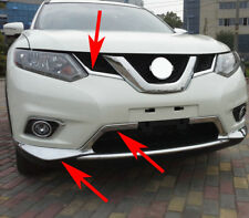 For Nissan Rogue XTrail 2014-2016 Chrome Grill Grille Strip Bumper Cover Protect