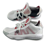 """Adidas Dame 6 Shoes EH2069 White Scarlet Red Black Men Size 7.5 """"Dame Time"""" NWT"""