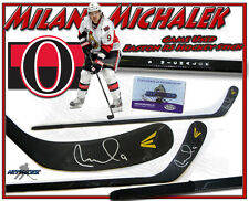 MILAN MICHALEK Signed Game Used Stick OTTAWA SENATORS EASTON RS Stick w/COA