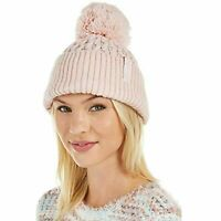 Calvin Klein Solid Pink Cable knit women's Beanie hat one size retail $40