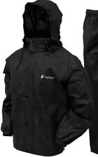 Frogg Toggs Mens Jacket Deep Black Size Medium M Rain Hooded Solid $60- 884
