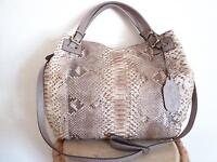 Reptile's House made in Italy phyton leather snakeskin Handbag 100% authentic