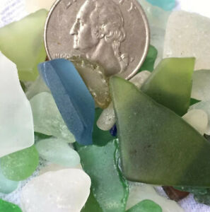 genuine surf tumbled beach sea glass 50+ jewelry arts crafts collectibles Hawaii