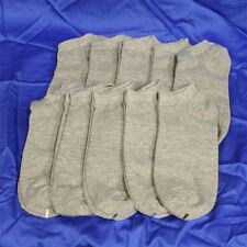 10 Pairs Mens Cotton Low Cut Ankle Socks Sports Casual No Patch Type Gray #A1