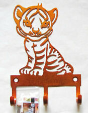 Metal Baby Tiger Hooks Nursery Hooks Metal Hooks tiger decor jungle wall art
