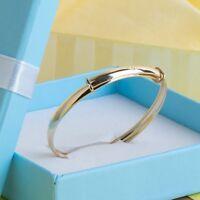 9ct Gold Personalised Baby Bangle Bespoke Christening Bracelet Engraved Gift Box