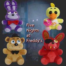Set of 4pc FNAF Five Nights at Freddy's Chica Bonnie Foxy Plush Doll Toy Xmas