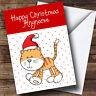 Spotty Ginger Tabby Cat Children's Personalised Christmas Card