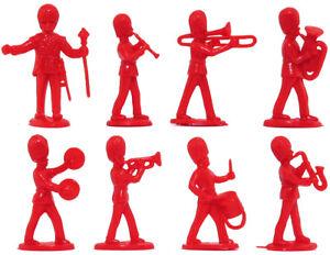 Charbens Recasts - 8 British Bandsmen - 60mm unpainted plastic