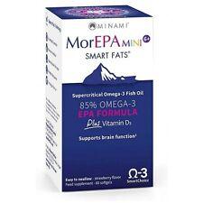 New MorEPA MINI 85% OMEGA-3 EPA Formula Supports brain function 60 Softgels