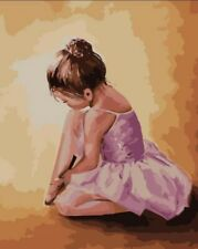 Ballerina baby - 40 x 50 cm High Quality Paint by Numbers Kit Cotton Canvas stre