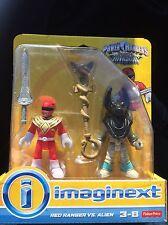 Fisher Price Imaginext Power Rangers Alien Invasion Red Ranger Vs. Alien Toy