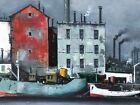 Gabriel Marc Louis Ferro, [French 1903-1981], O/C original harbor scene.