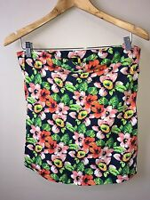F&F By Tesco Ladies Tube Top Floral Size 14<NH1185