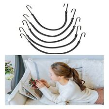 10pcs Ponytail Hooks Holder Bungee Bands Rubber Bands Hooks Hair Styling Black