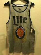 Miller Lite Beer Can Men's Graphic Tank Top Size Medium
