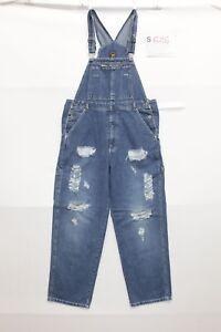 Salopette Route 66 (Code S626) Taille L Costume Jeans Used Vintage Custom Cassé