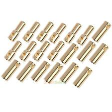 10 Pairs 5.5mm Gold Plated Copper Bullet Banana Plug Connectors for RC Motor ESC