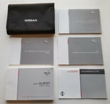 2016 Nissan Quest Owners Manual Books with Storage Case / OEM / Free Shipping