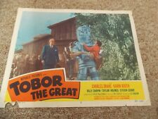 "TOBOR THE GREAT(1954)CHARLES DRAKE ORIGINAL 11""BY14"" LOBBY CARD NICE!"