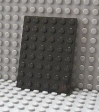 LEGO Black 6 x 8 Plate Lot of Two