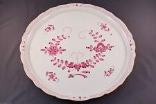 MEISSEN plaque ronde 00514 - 340410 indien peinture 2 arête pourpre 2. choix ø 39cm
