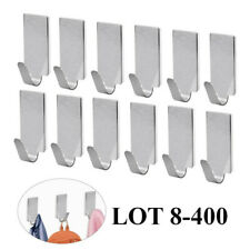 Lot 8-400Pcs Self Adhesive Wall Door Stainless Steel Towel Coat Hooks Hangers Ww